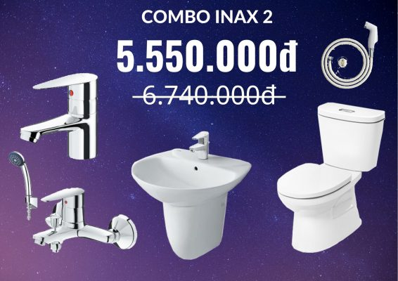 Combo Inax giảm giá 2