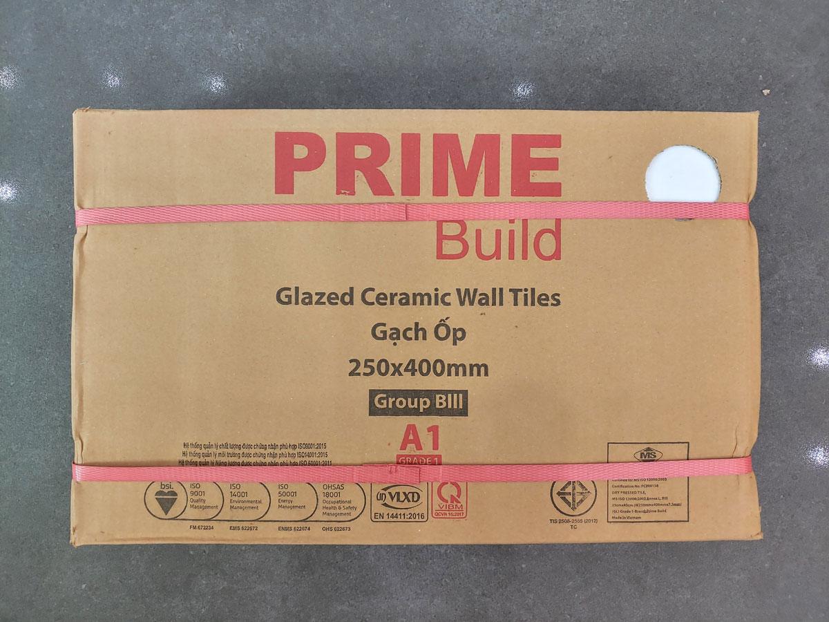 Gạch ốp tường màu trắng 25x40 Prime 2200