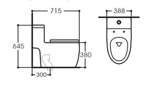 Bản vẽ kỹ thuật bồn cầu Kolni A2076