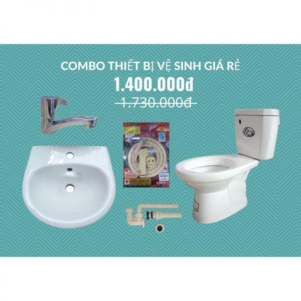 Combo thiết bị vệ sinh giá rẻ tại Hà Nội